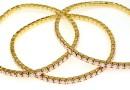 Bratara Swarovski 1088 rose water opal, placata cu aur, 18cm - x1
