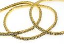 Bratara Swarovski 1088 black diamond, placata cu aur, 18cm - x1