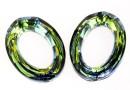 Swarovski, cosmic oval fancy, sahara, 22x16mm - x1