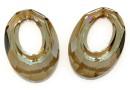 Swarovski, pandantiv helios, bronze shade, 20mm - x1