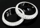 Swarovski, pave ring, crystal, 18.5mm - x1