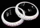 Swarovski, pave ring, aurore boreale, 18.5mm - x1