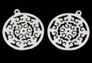 Pandantiv disc  grecesc argint 925, 16.5mm  - x1