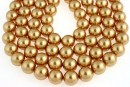 Perle Swarovski, bright gold pearl, 12mm - x10