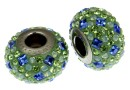 Swarovski, becharmed pave, chrysolite - x1