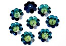 Swarovski, marguerite flower, bermuda blue, 12mm - x4