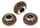Swarovski, becharmed pave lilac shadow burgundy, 13.5mm - x1