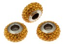 Swarovski, becharmed pave topaz shining curry, 13.5mm - x1