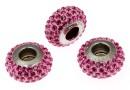 Swarovski, becharmed pave rose rose, 13.5mm - x1