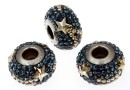 Swarovski, becharmed pave star montana, 15mm - x1