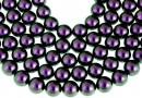 Perle Swarovski, iridescent purple, 5mm - x100