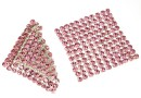 Swarovski Crystal mesh, light rose, 3.2x3.2cm - x1