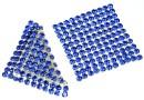 Swarovski Crystal mesh, sapphire, 3.2x3.2cm - x1
