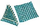 Swarovski Crystal mesh, blue zircon, 3.2x3.2cm - x1