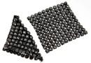 Swarovski Crystal mesh, jet hematite, 3.2x3.2cm - x1