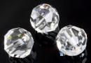 Swarovski, margele, rotund fatetat, crystal, 8mm - x2