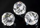 Swarovski, rotund fatetat, crystal, 6mm - x6