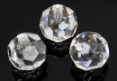 Swarovski, margele cu un orificiu, rotund fatetat, crystal, 11mm - x2