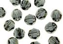 Swarovski, margele, rotund fatetat, graphite, 4mm - x10