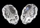 Swarovski, margele Scarab aurore crystal, 12mm - x1