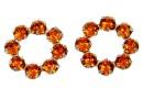 Swarovski, floare placat cu rodiu, tangerine, 10mm - x1
