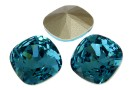 Swarovski, fancy square, indicolite, 10mm - x1