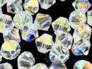 Swarovski, margele bicone, crystal aurore boreale, 2.5mm - x20