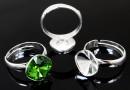 Baza inel reglabil argint 925 pentru Swarovski 4470 si 4461, 12mm - x1