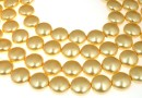 Perle Swarovski disc, gold, 12mm - x4