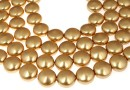 Perle Swarovski disc, bright gold, 16mm - x2
