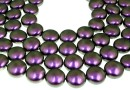 Perle Swarovski disc, iridescent purple, 12mm - x4