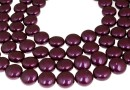 Perle Swarovski disc, blackberry, 16mm - x2