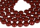 Perle Swarovski disc, bordeaux, 16mm - x2
