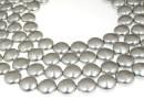 Perle Swarovski disc, light grey pearl, 12mm - x4
