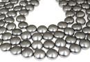 Perle Swarovski disc, grey pearl, 12mm - x4