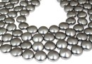 Perle Swarovski disc, grey pearl, 16mm - x2