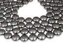 Perle Swarovski disc, dark grey pearl, 16mm - x2
