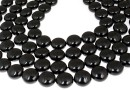 Perle Swarovski disc, mystic black pearl, 12mm - x4
