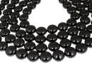 Perle Swarovski disc, mystic black pearl, 16mm - x2
