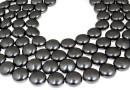 Perle Swarovski disc, black pearl, 10mm - x10