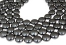 Perle Swarovski disc, black pearl, 16mm - x2