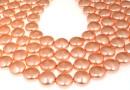 Perle Swarovski disc, rose peach pearl, 16mm - x2