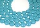 Perle Swarovski disc, turquoise pearl, 12mm - x4