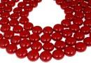 Perle Swarovski disc, red coral pearl, 14mm - x4