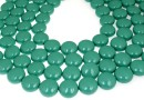 Perle Swarovski disc, jade pearl, 14mm - x4