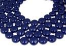Perle Swarovski disc, dark lapis pearl, 14mm - x4