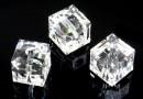 Swarovski, margele cub, crystal, 8mm - x1