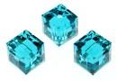 Swarovski, margele cub, blue zircon, 8mm - x1