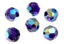 Swarovski, margele rotund fatetat, purple velvet AB, 8mm - x2