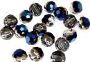 Swarovski, margele rotund fatetat, metallic blue, 6mm - x6